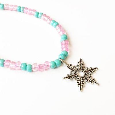 American Girl Snowflake Necklace