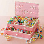 jewellery box birthday party cake beading buds