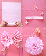 how to make a tissue paper flower for birthday parties beading buds