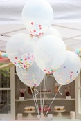upside down balloons beading birthday party