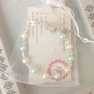 Woodbridge First communion event entertainment Rosary Bracelet Craft Workshop