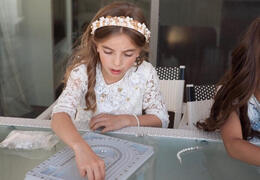 Rosary Bracelet Making First Communion Event Entertainment