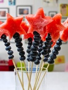 Magic wand fruit kabob