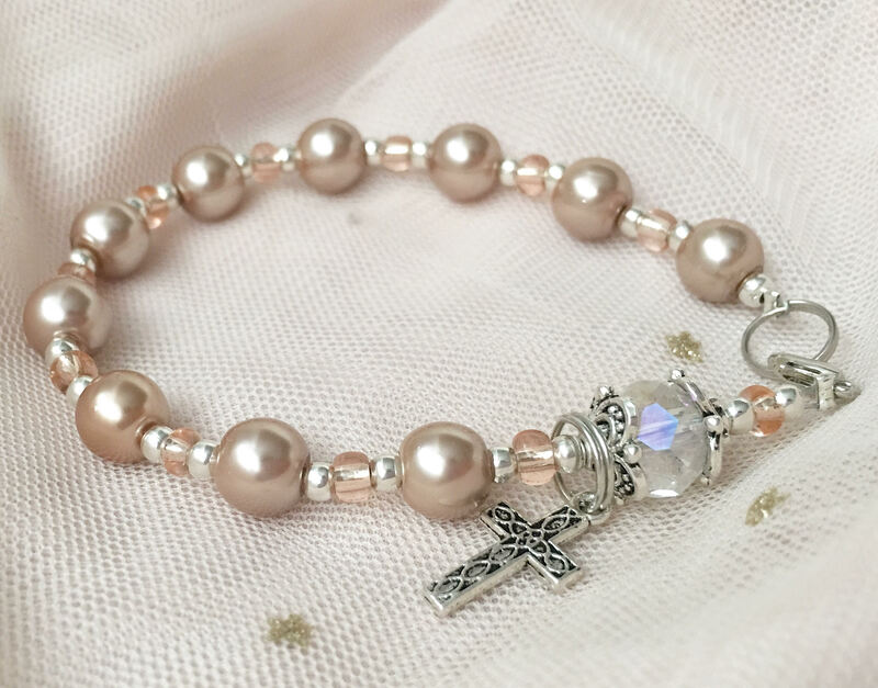 Rosary Bracelet for First Communion Event Entertainment in Markham, Ontario.