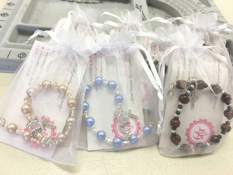 Rosary Bracelet for First Communion School workshop Vaughan