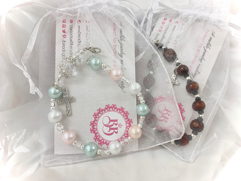 Rosary Bracelet for First Communion School workshop Toronto